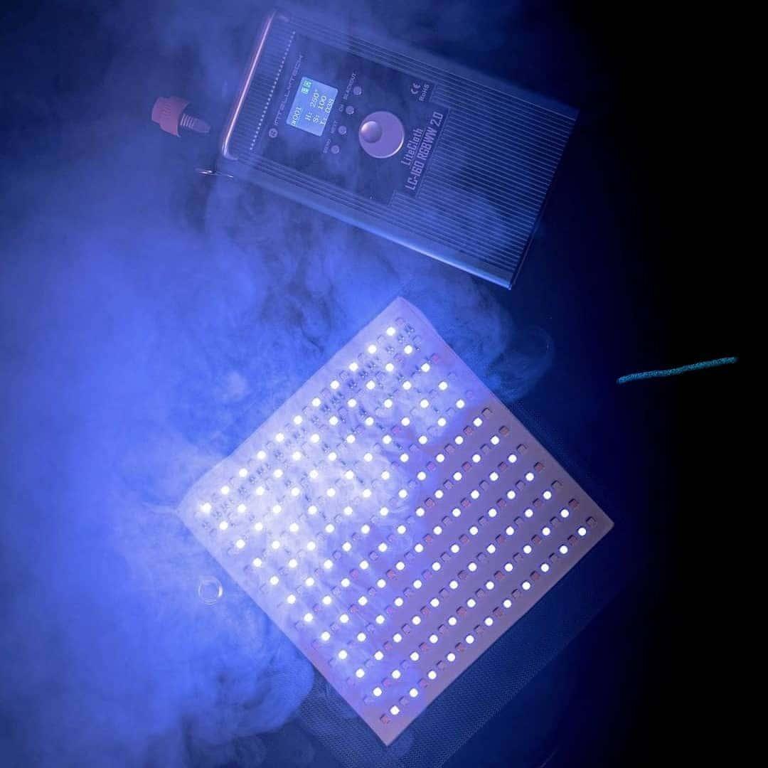 Intellytech LC160RGBW Gafpa Gear on set blue light
